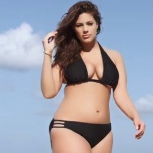 Swimsuits For All Swim - BLACK TRIANGLE TRIPLE STRING BIKINI